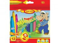 Фломастеры 12 цв. Super-Jumbo Super Washable 120487 - Карапузики